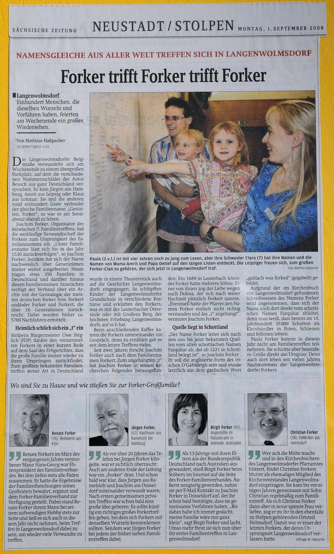 SZ-Artikel Treffen 2008